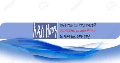 addis zemen job vacancy