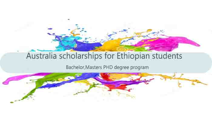 australia scholarships for Ethiopian students